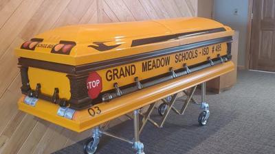 School bus casket