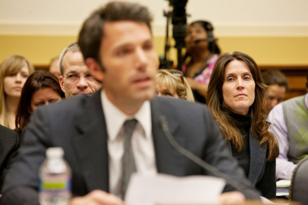 Whitney Williams sits in as Ben Affleck testifies before House Foreign Affairs Committee in 2011
