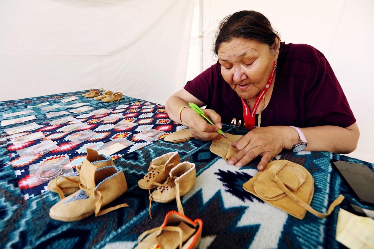 First Peoples Marketplace at the Montana Folk Festival in Butte