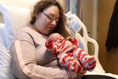 Feature photo: Baby born New Year's Day
