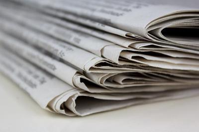 newspapers stockimage