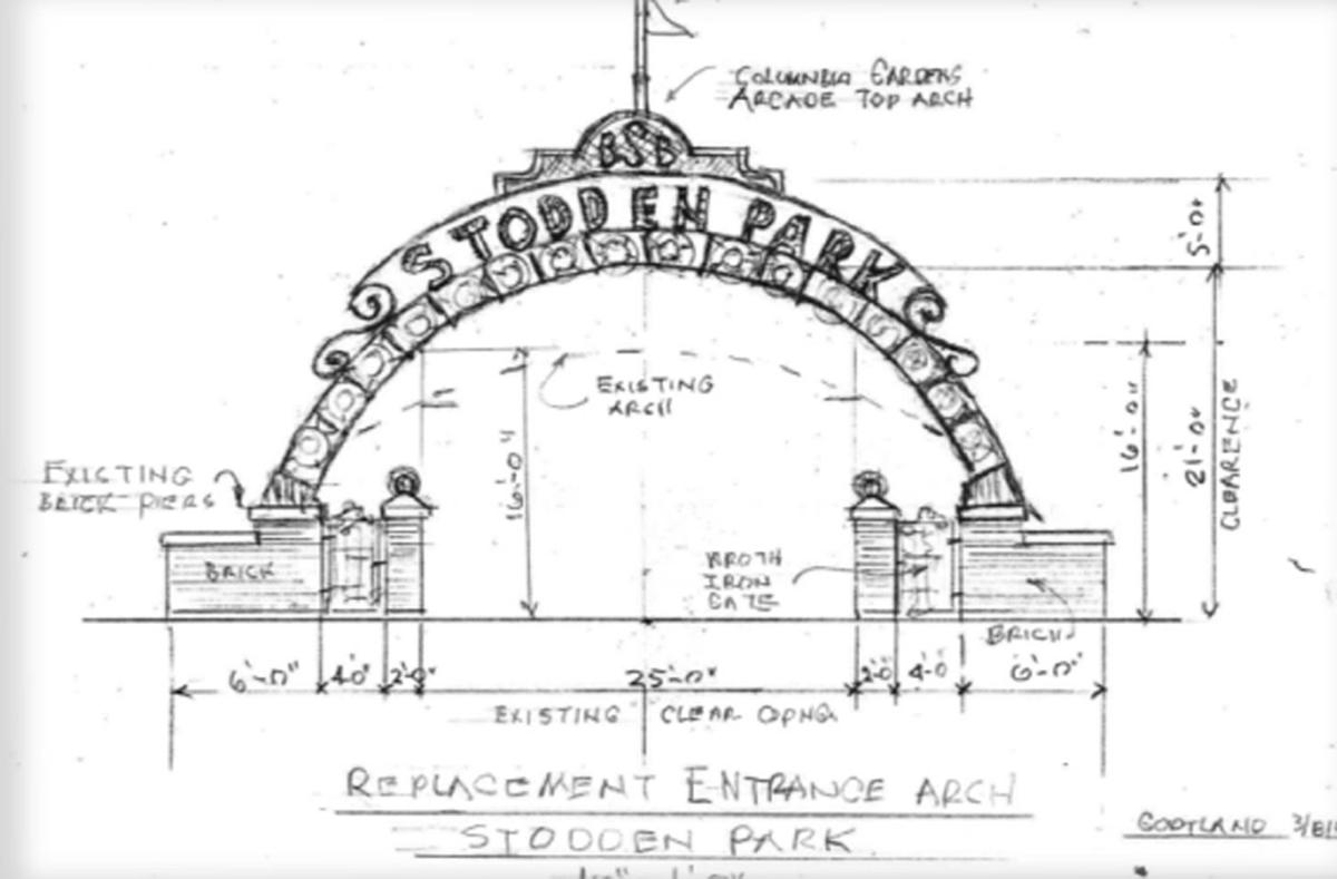 Stodden architect's drawing of entrance
