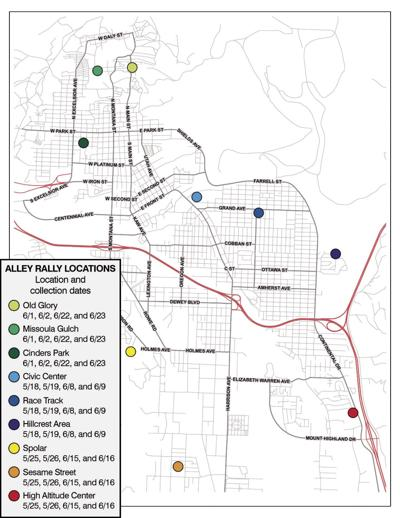 2018 Alley Rally Map
