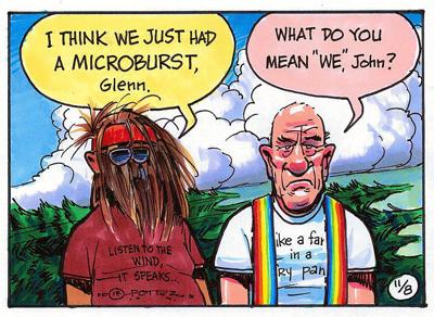 Microbursts vs. tornados