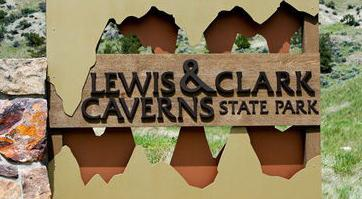 Lewis and Clark Caverns State Park sign (copy) (copy)