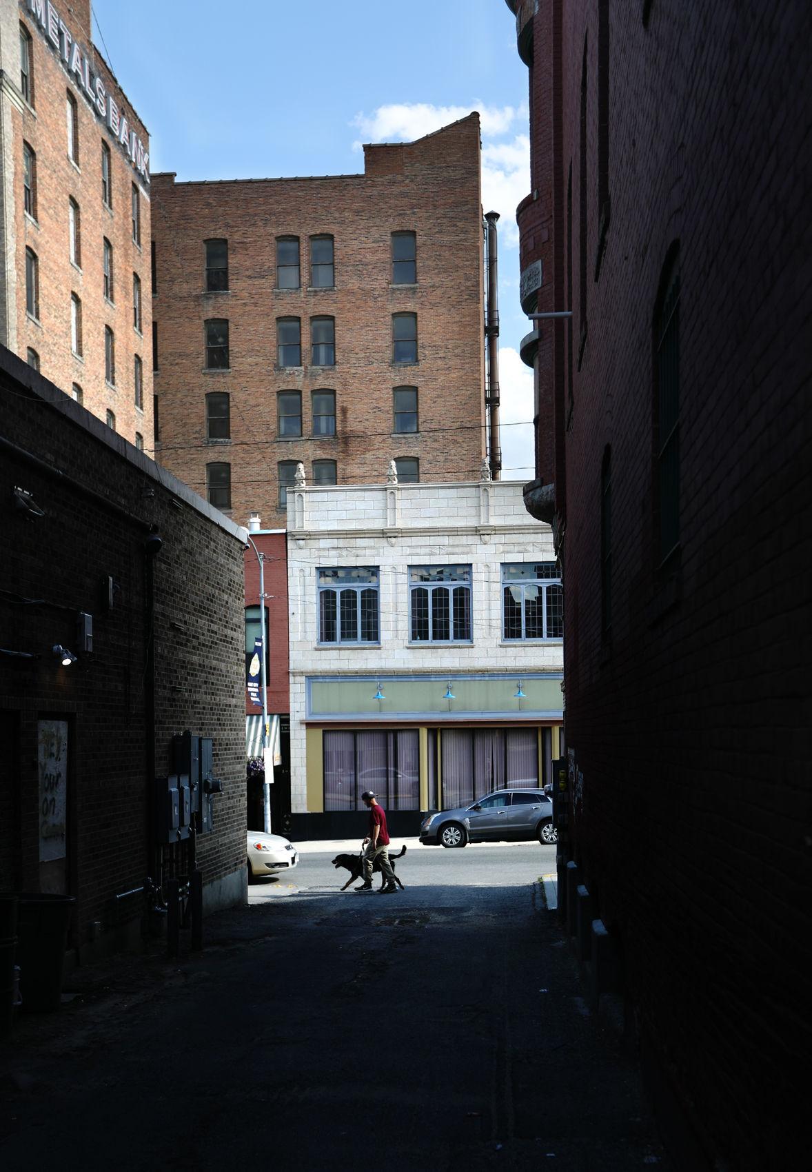 Uptown Butte alley