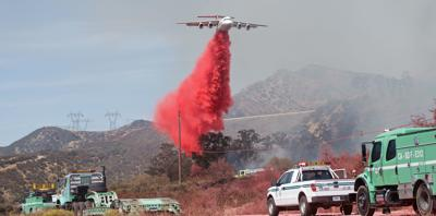 Paradise fire air tanker
