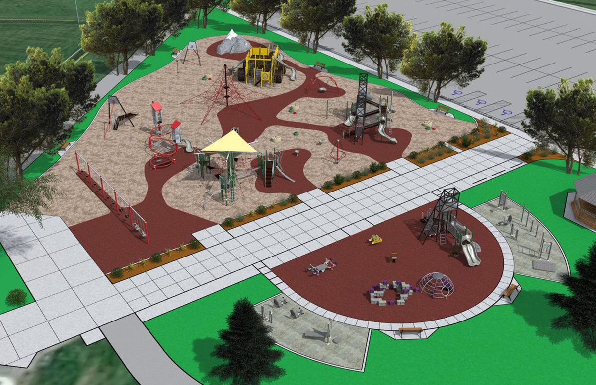 Illustration of all-inclusive playground at Stodden Park