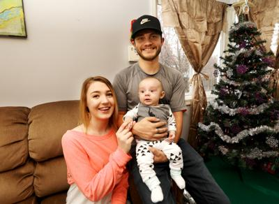 Lacey Salminen at home with her family in Butte