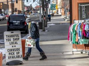Local shoppers hit Uptown on Black Friday