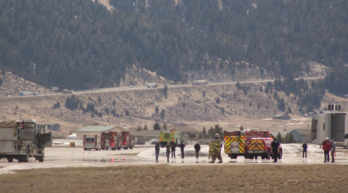 Emergency responders prepare for emergency landing in Butte