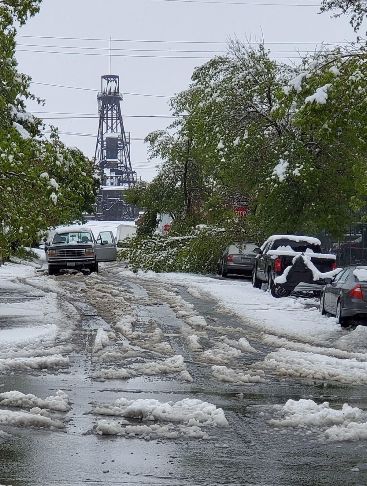 Heavy snow in June