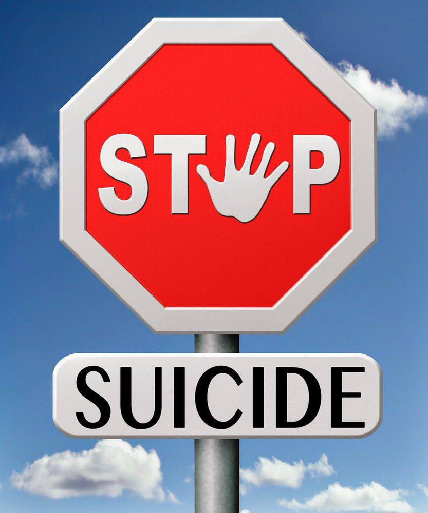 Stop suicide icon
