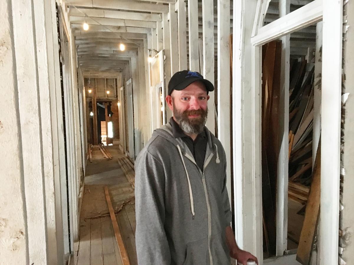 Don Andrews renovates a building