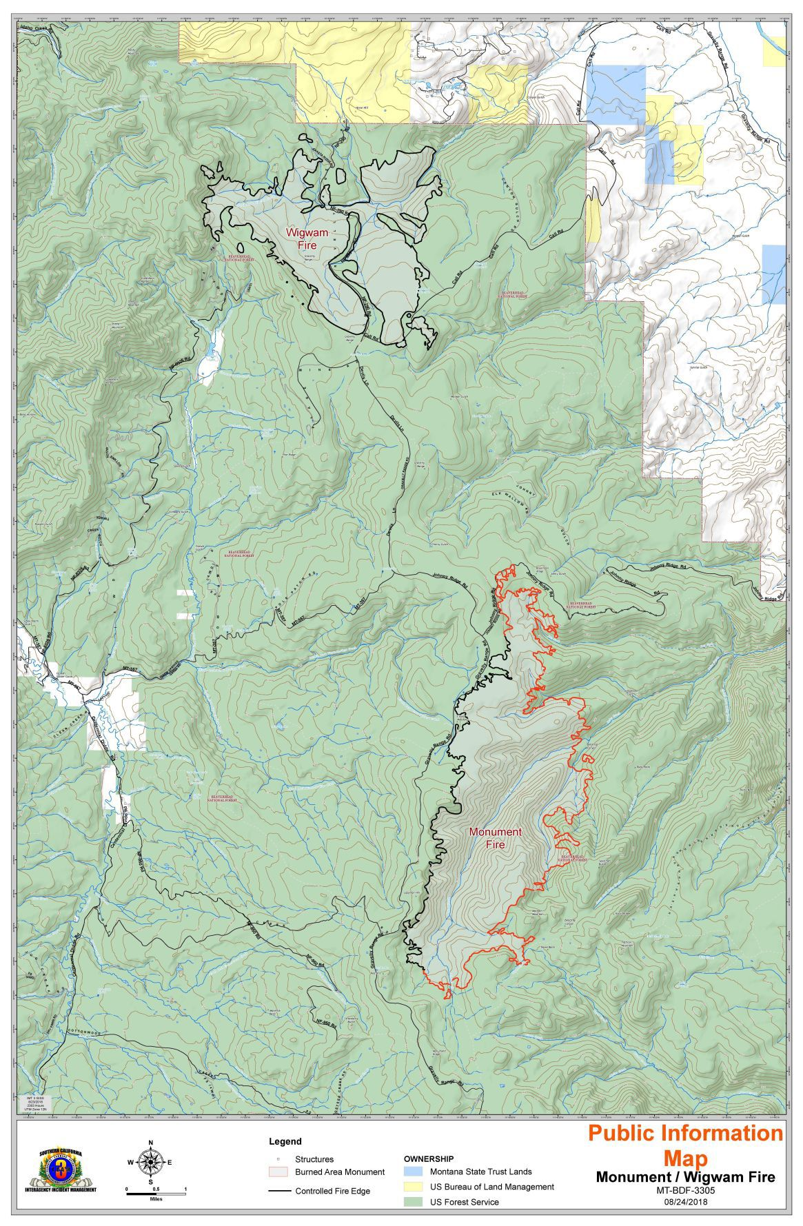 Wildfire Update Monument Wigwam Goldstone And Beaver Creek Fires