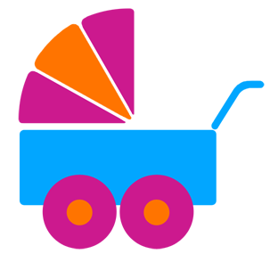 baby buggy icon for births