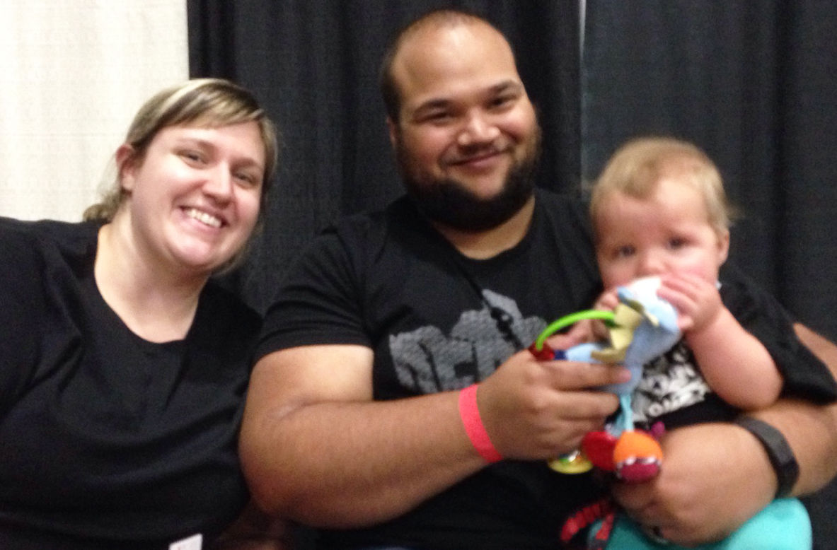 Ashley, Tim and baby Cambri Roder