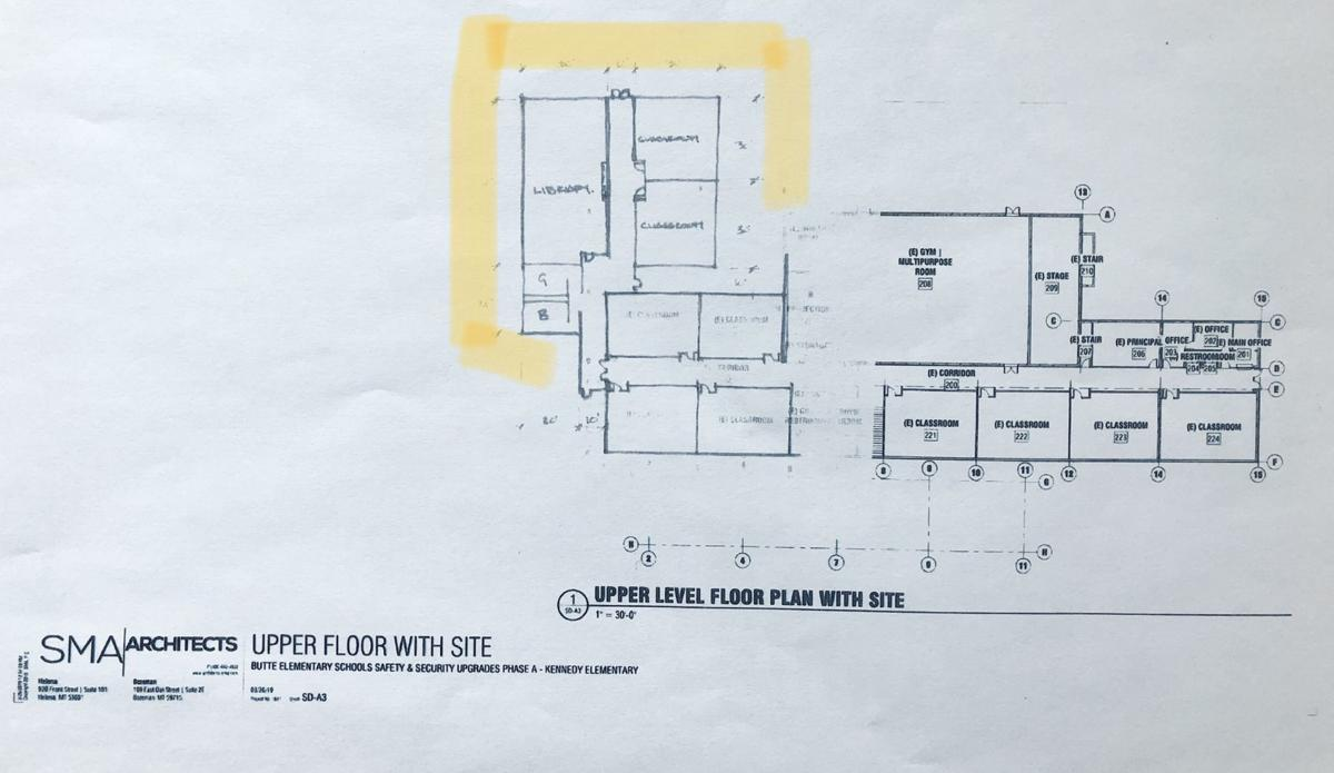 Rough sketch of the new addition approved for Kennedy Elementary School