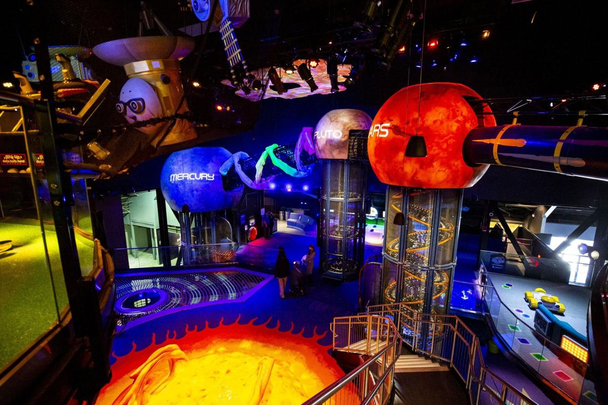 Mercury, Pluto and Mars are among planets represented at Planet Play, part of Kennedy Space Center Visitor Complex, on Monday, Jan. 4, 2021.
