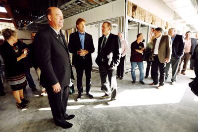 Danies and ConocoPhillips CEO tour Tech building