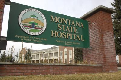Entrance sign at Montana State Hospital at Warm Springs