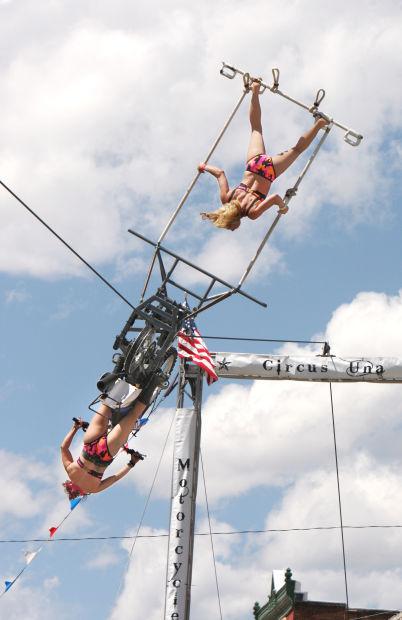 All-woman trapeze act entertains EKD crowds