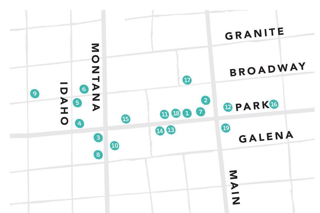 Uptown artwalk map