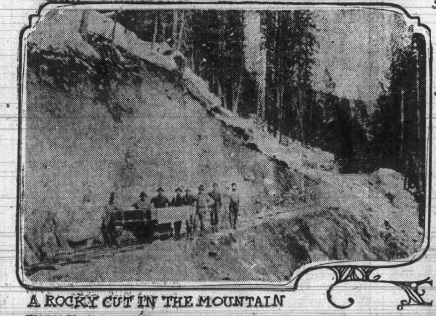 Skalkaho road construction