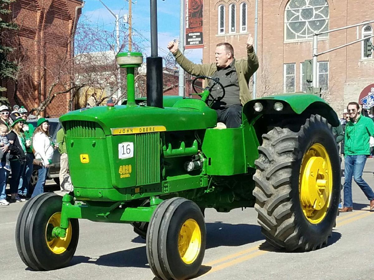Sen. Tester on tractor