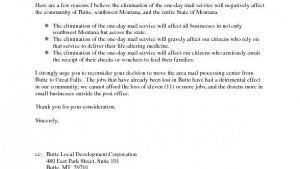 Sample Letter On Post Office Proposal Local Mtstandard Com
