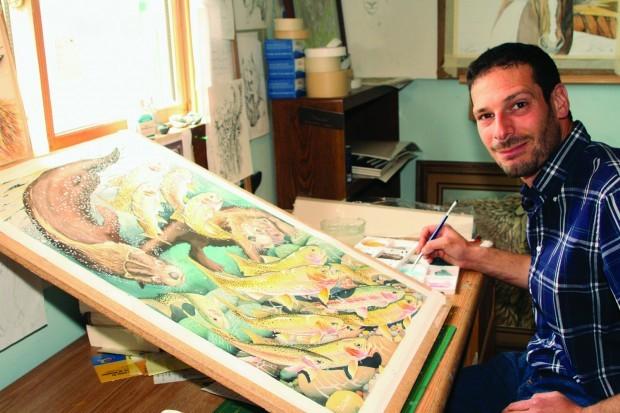 Zach Babat in his studio