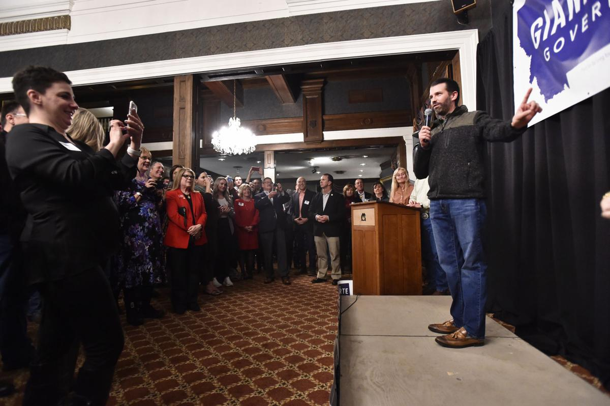 Donald Trump Jr. stumps for Greg Gianforte during a campaign fundraiser