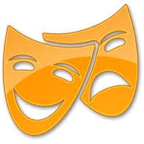 Theater icon theatre drama masks comedy tragedy greek