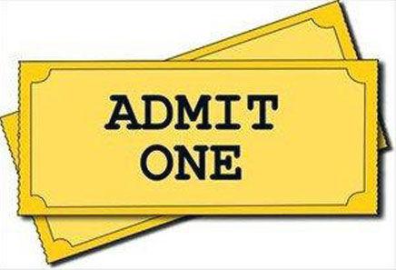 Tickets admit one