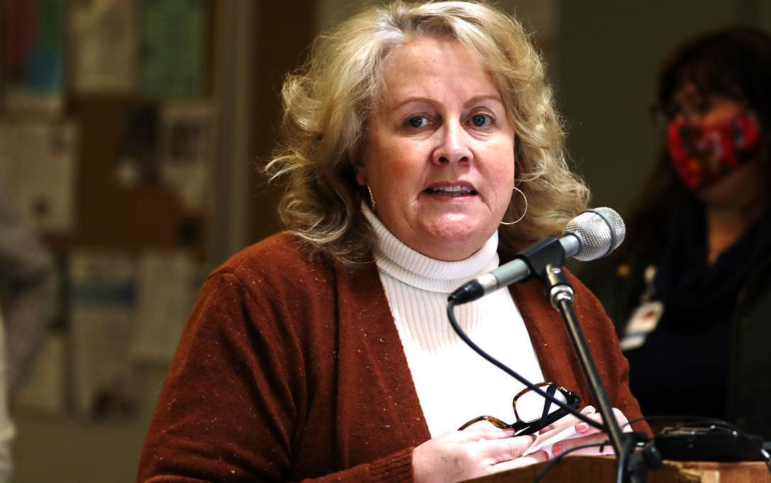 Butte public health officer Karen Sullivan speaks