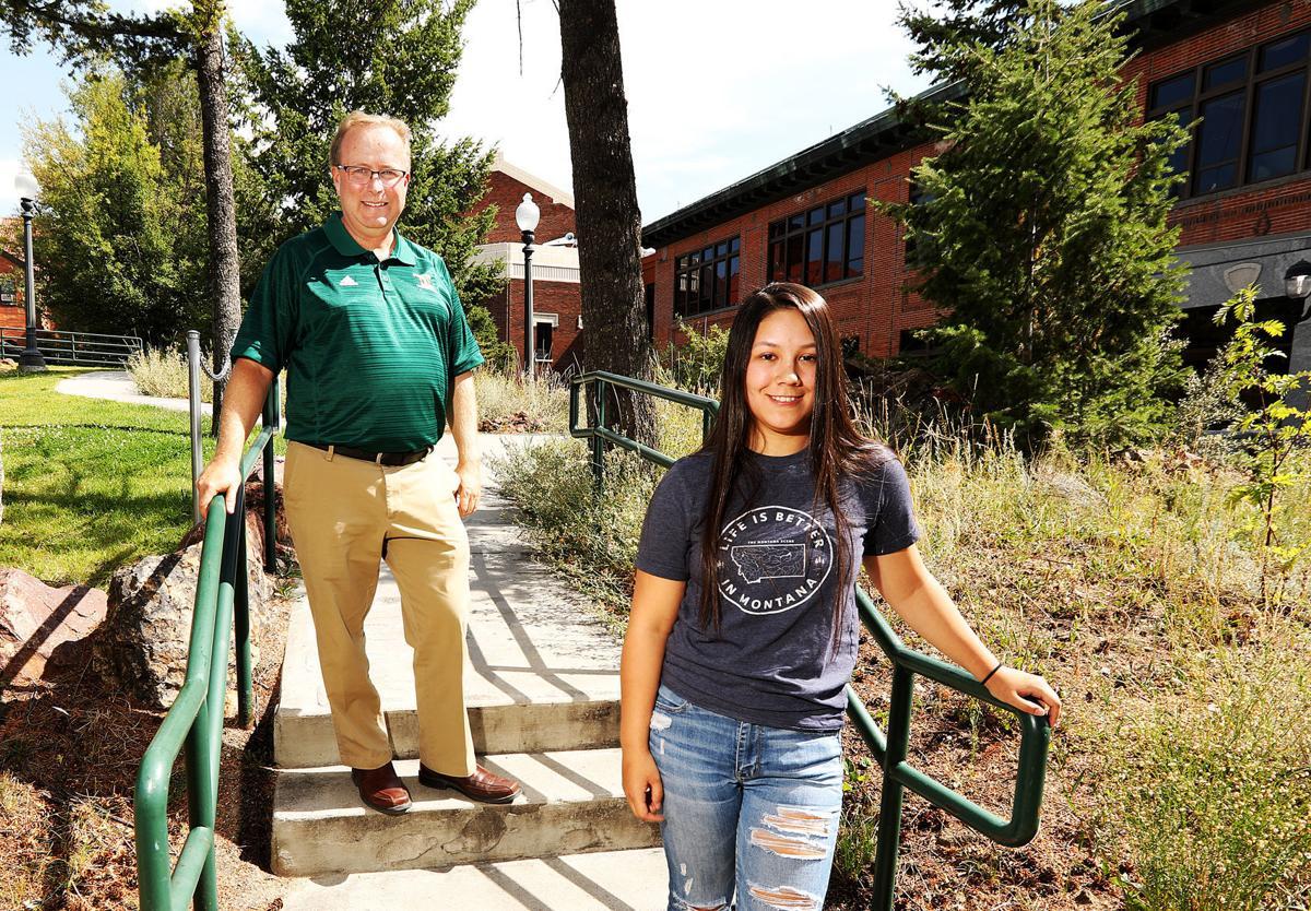 Tech student and Jasmin Juarez on campus