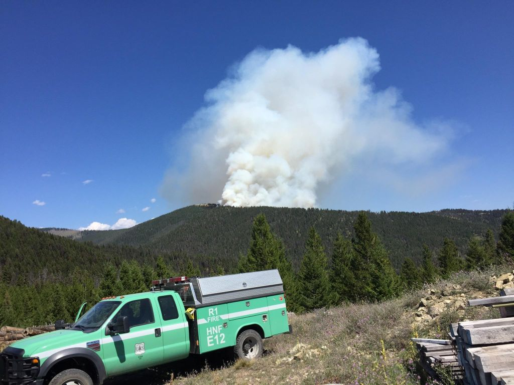 Engine and Sucker Creek fire