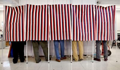 Voting booth.