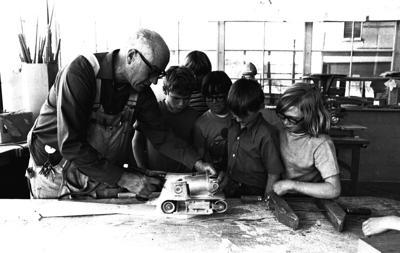 Carpentry skills at Webster April 1975
