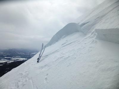 Saddle Peak avalanche crown