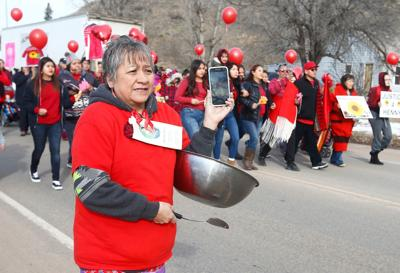 #HennyStrong march through Lame Deer