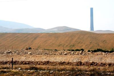 Slag processing plant site
