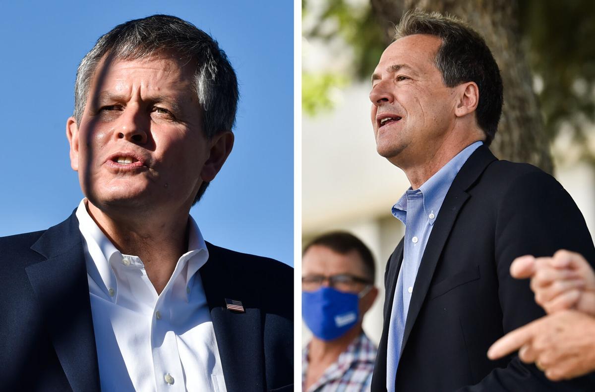 Candidates for U.S. Senate, Sen. Steve Daines, left, and Gov. Steve Bullock