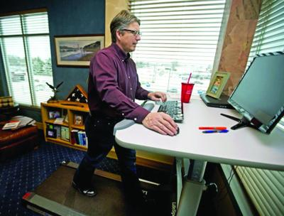 Work out at work: Treadmill desks popular with office crowd