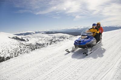 Snowmobile snow machine