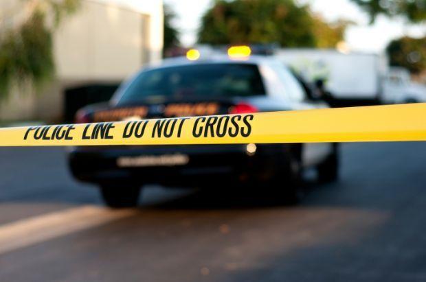 police crime scene stockimage