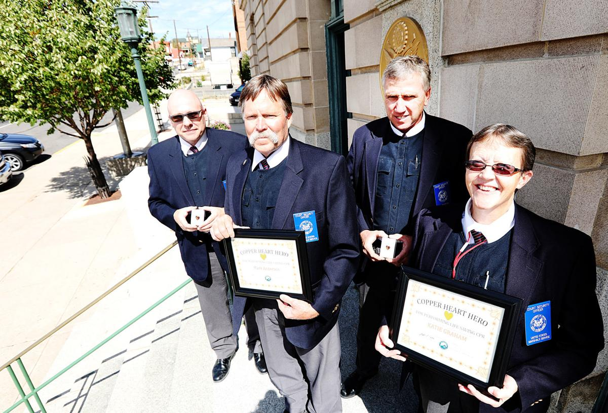 Copper hearts awarded to court officers who saved a life recently