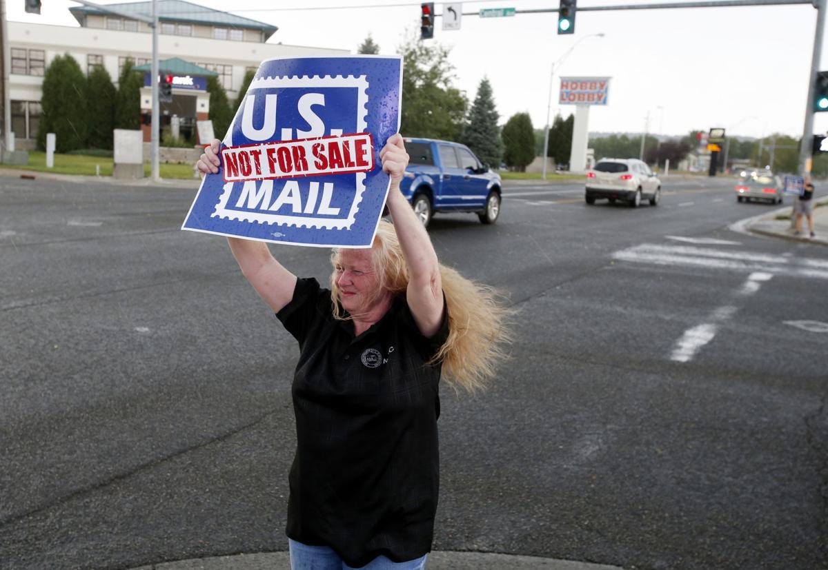 Postal worker protest
