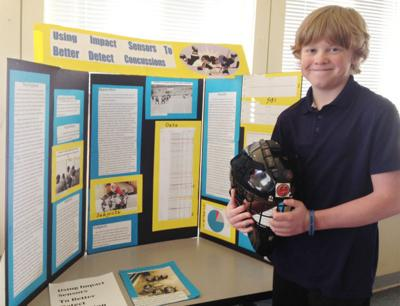 Carson Barry, 12, young scientist