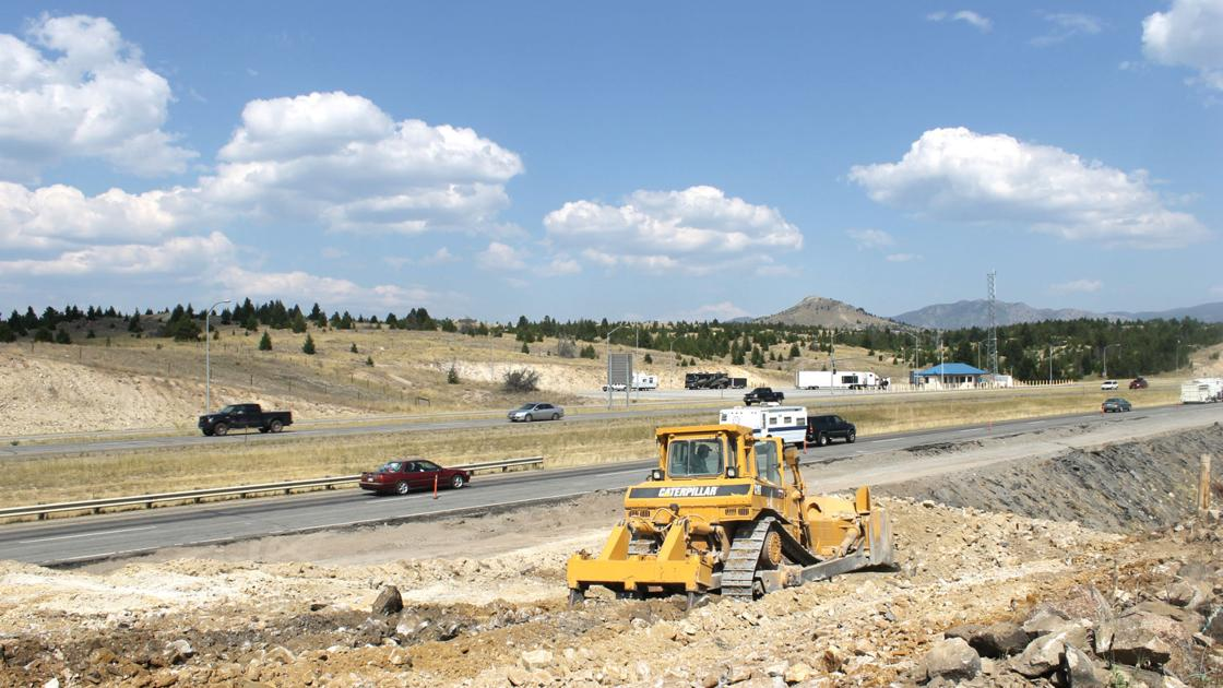 I 90 construction continues between rocker and butte for I 90 construction